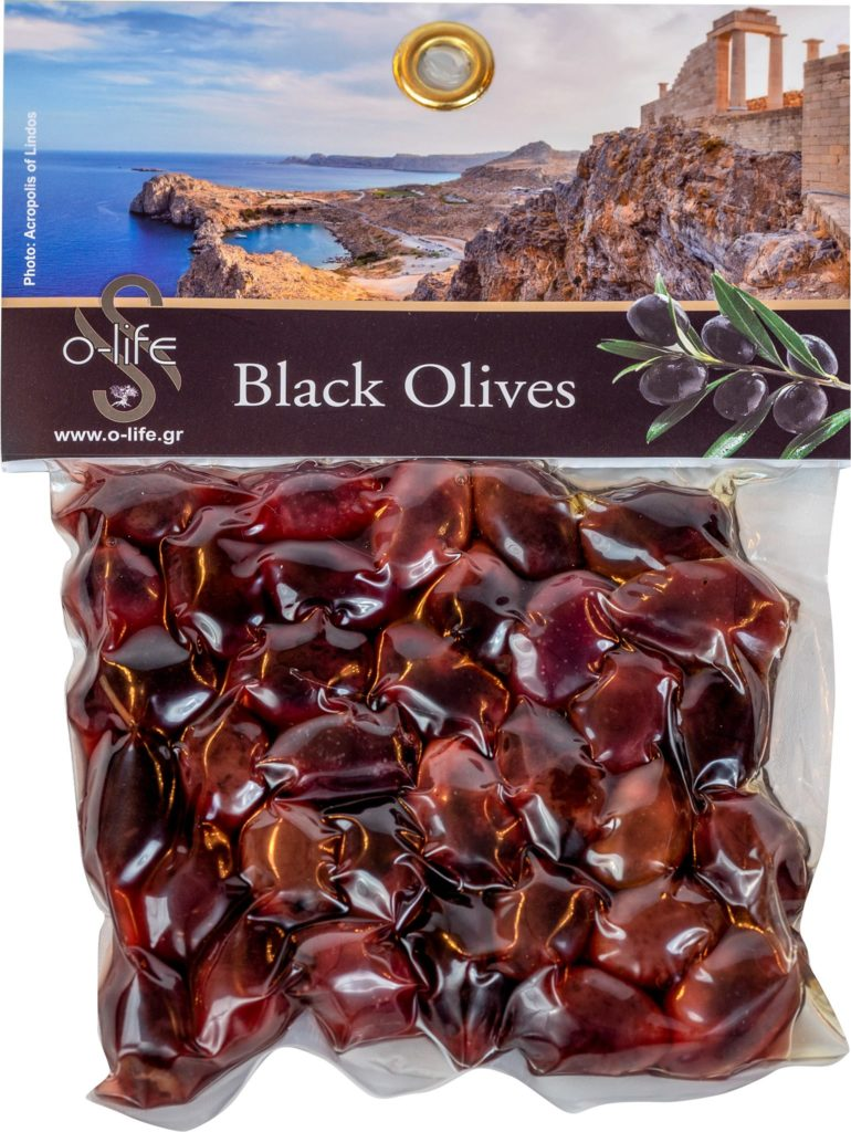 black olives with from rodos greece