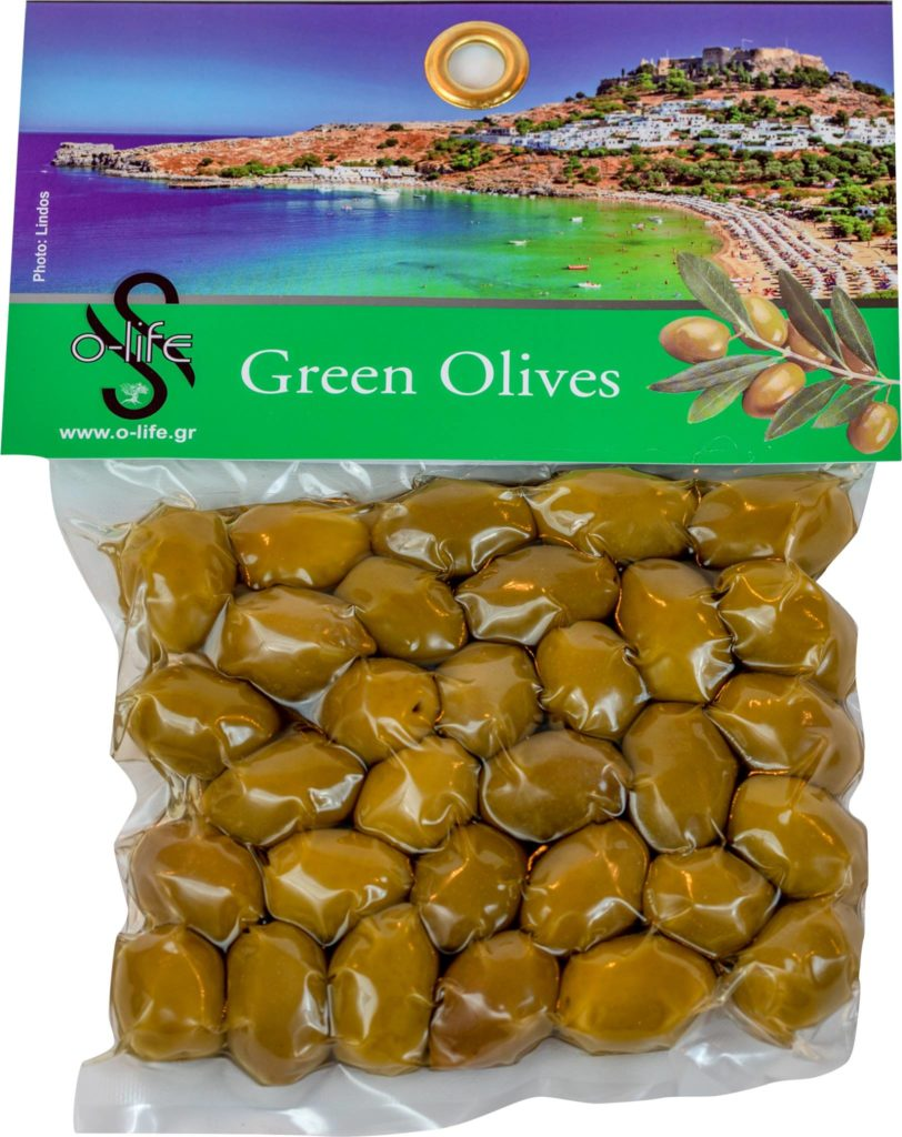 green olives with from rodos greece